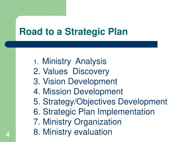 Road to a Strategic Plan
