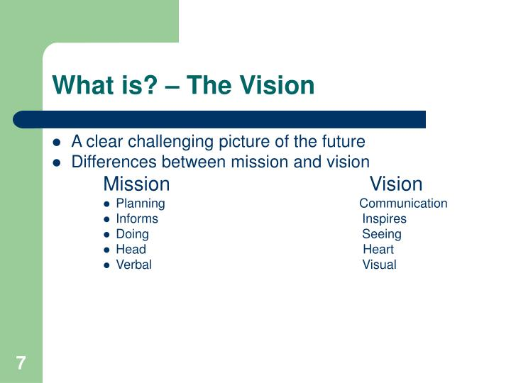 What is? – The Vision