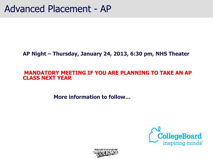 Advanced Placement - AP