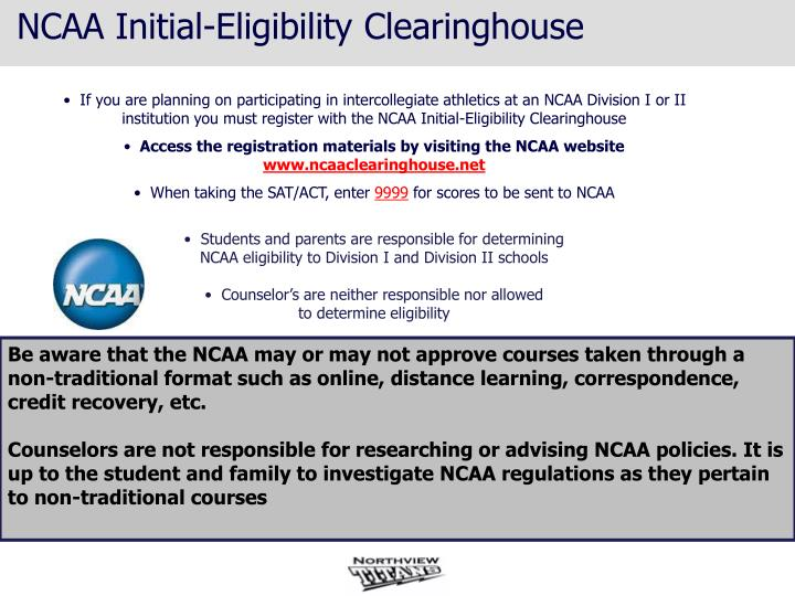 NCAA Initial-Eligibility Clearinghouse