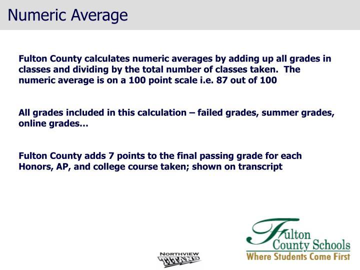 Numeric Average