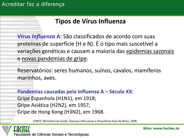Tipos de Vírus Influenza