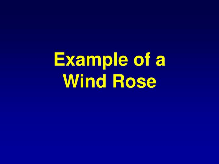 Example of a wind rose