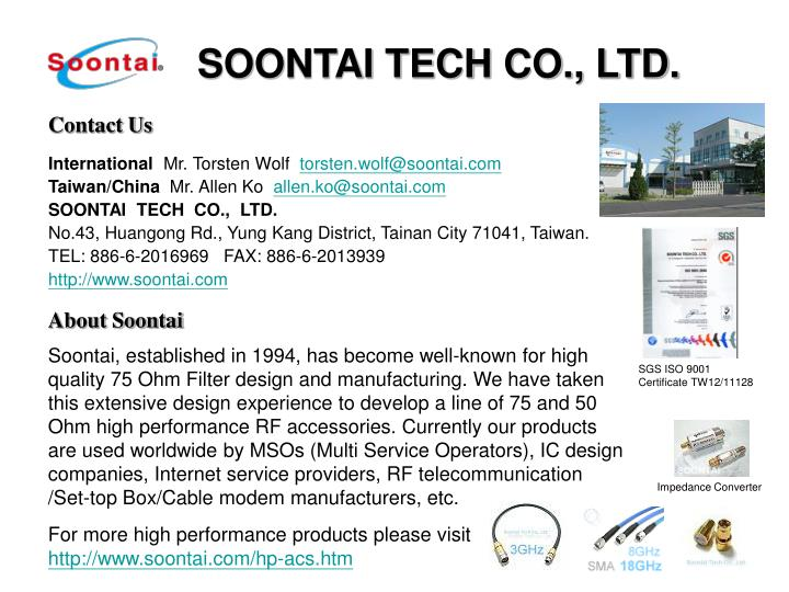 SOONTAI TECH CO., LTD.