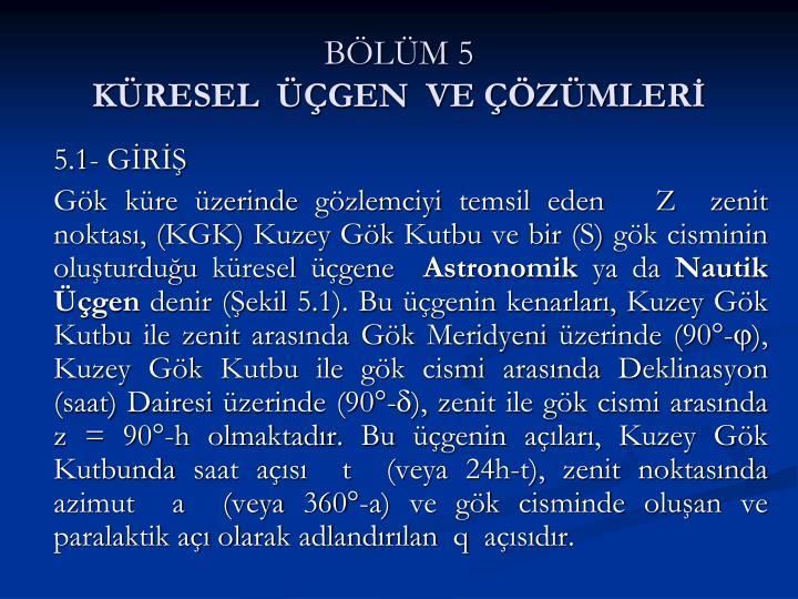 BÖLÜM 5