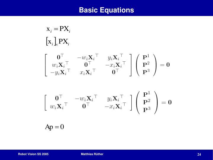Basic Equations