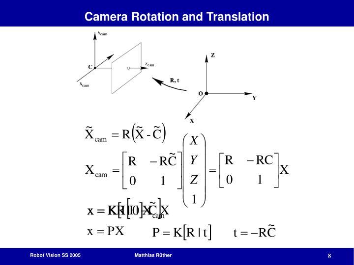 Camera Rotation and Translation