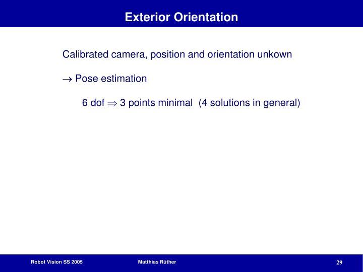 Exterior Orientation