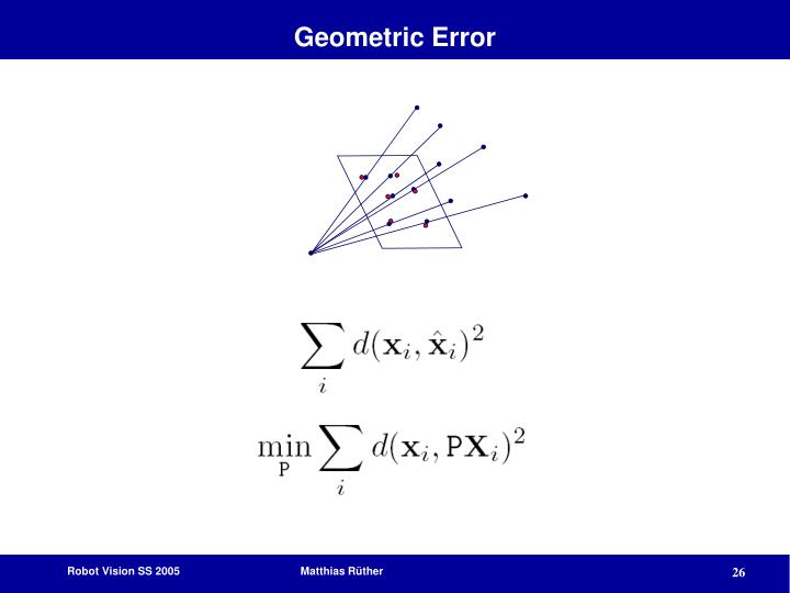 Geometric Error