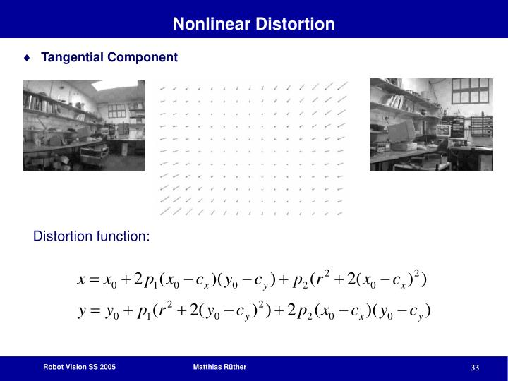 Nonlinear Distortion