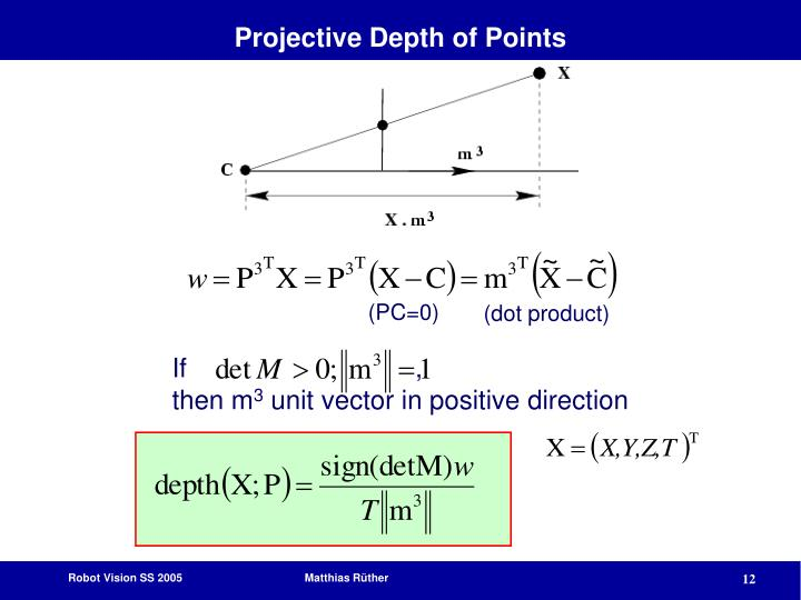 Projective Depth of Points