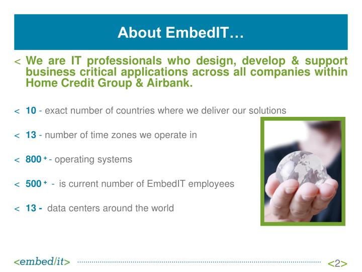 About EmbedIT…