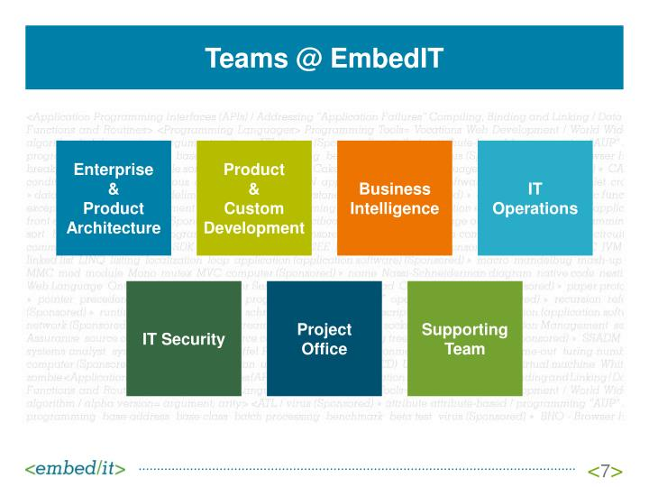 Teams @ EmbedIT