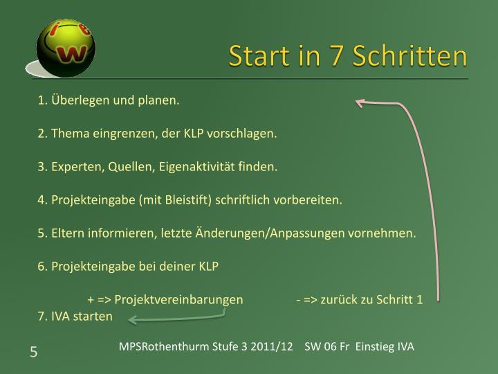 Start in 7 Schritten