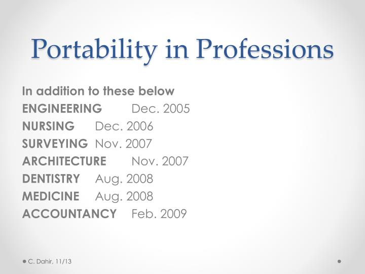 Portability in