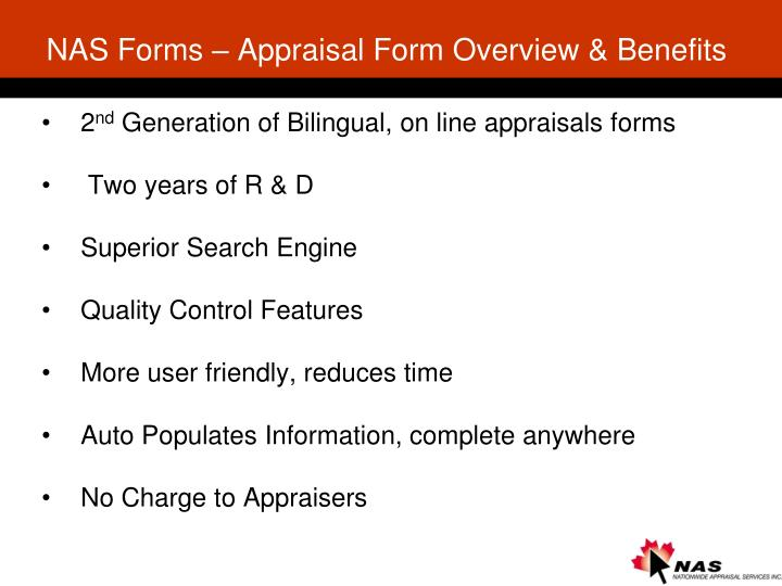 NAS Forms – Appraisal Form Overview & Benefits