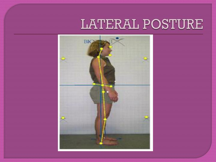 LATERAL POSTURE