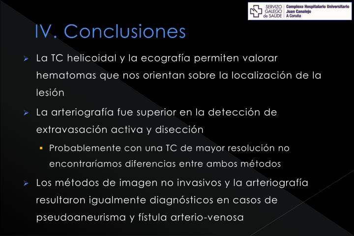 IV. Conclusiones