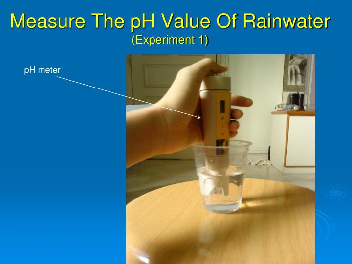 Measure The pH Value Of Rainwater