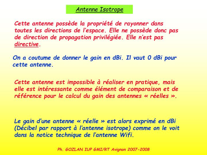 Antenne Isotrope