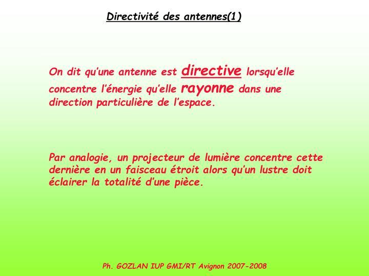 Directivité des antennes(1)