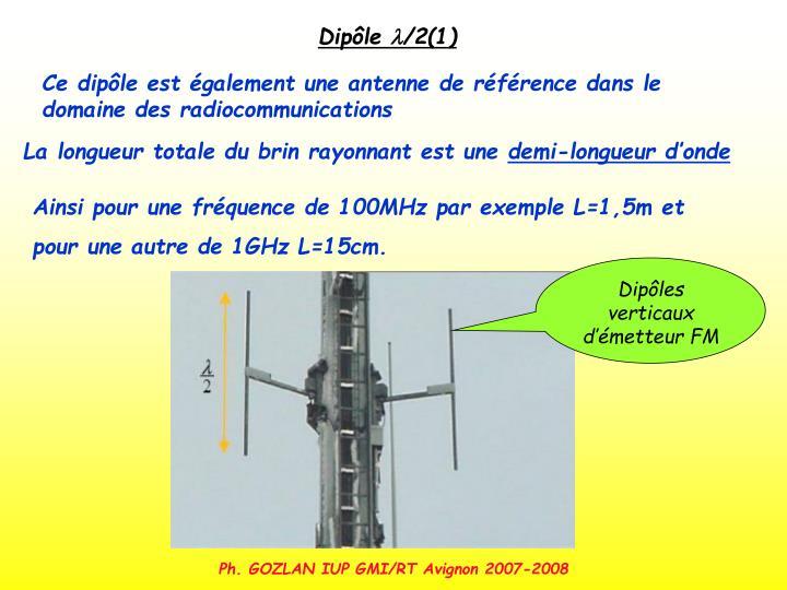 Dipôles verticaux d'émetteur FM
