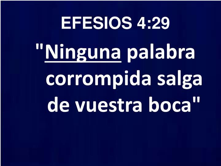 EFESIOS 4:29