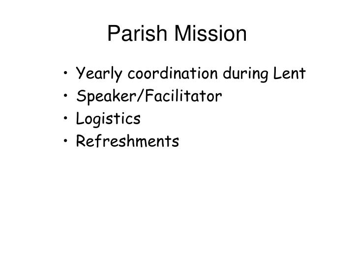 Parish Mission