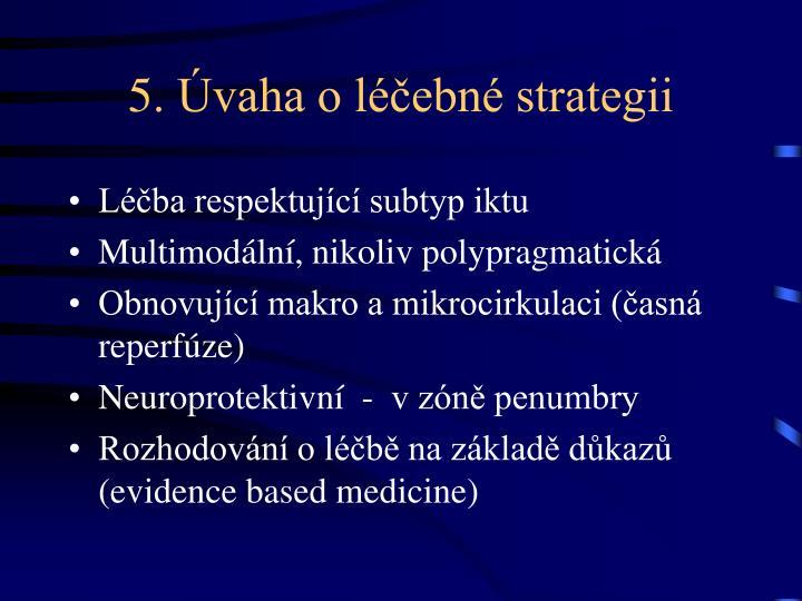 5. Úvaha o léčebné strategii