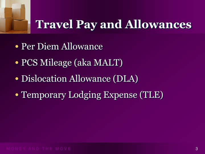 Travel Pay and Allowances