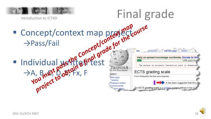 Final grade
