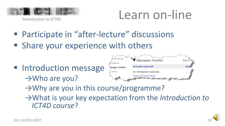 Learn on-line