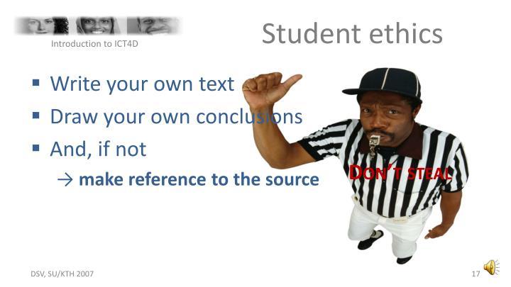 Student ethics