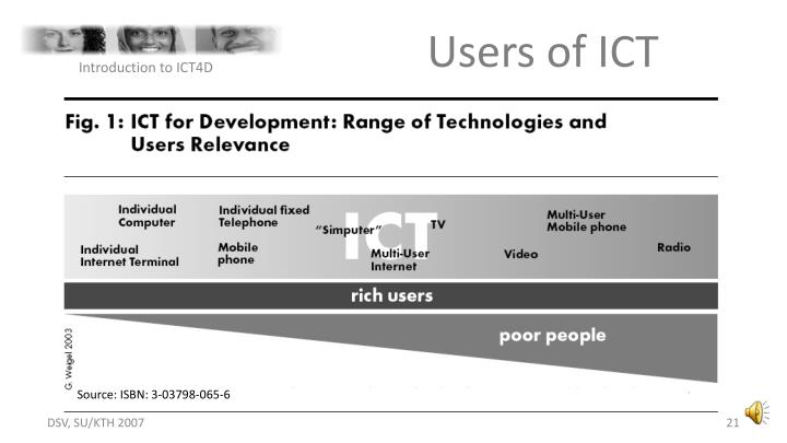 Users of ICT