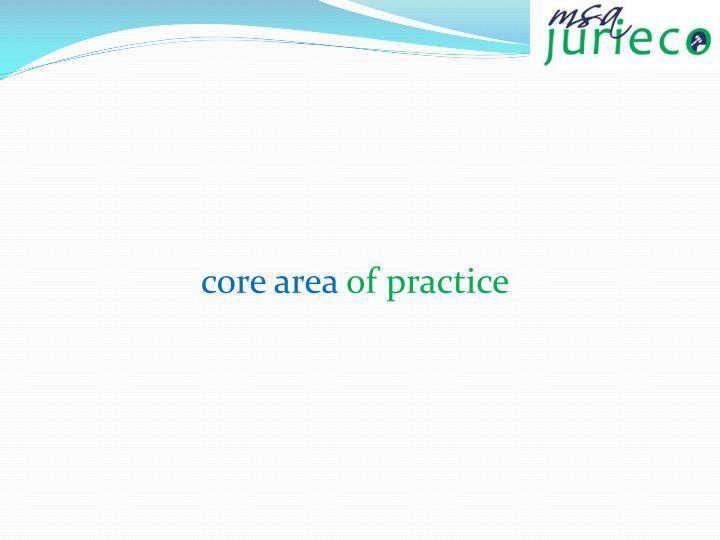 core area