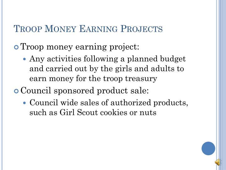 Troop Money Earning Projects