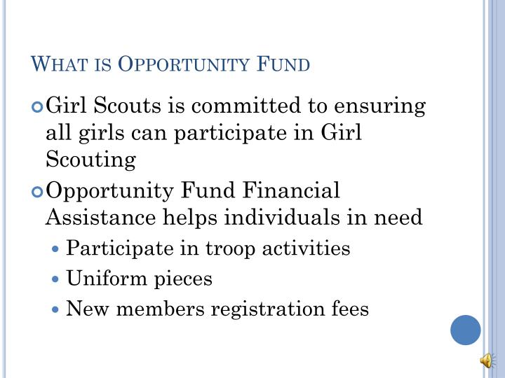 What is Opportunity Fund