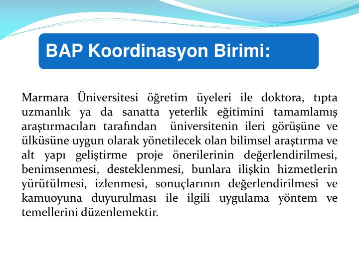 BAP Koordinasyon Birimi:
