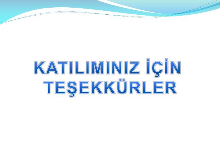 KATILIMINIZ N
