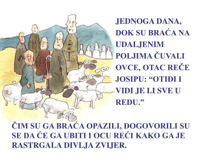 """JEDNOGA DANA, DOK SU BRAĆA NA UDALJENIM POLJIMA ČUVALI OVCE, OTAC REČE JOSIPU: """"OTIĐI I VIDI JE LI SVE U REDU."""""""