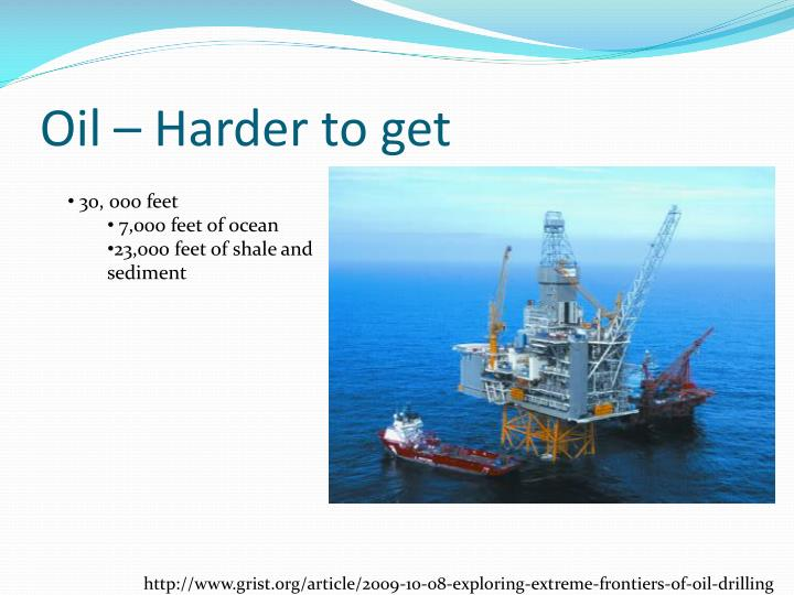 Oil – Harder to get