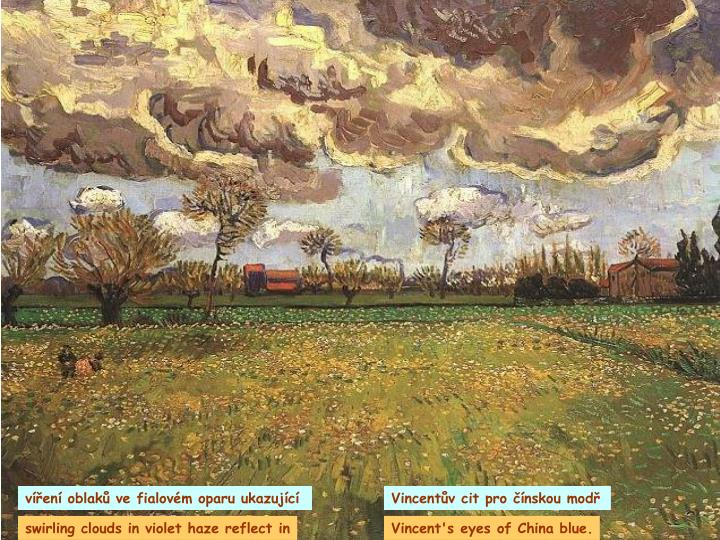 víření oblaků ve fialovém oparu ukazující