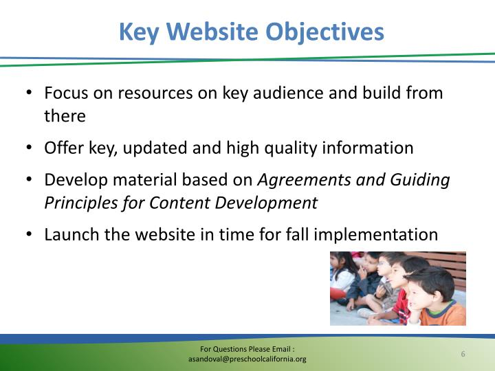 Key Website Objectives