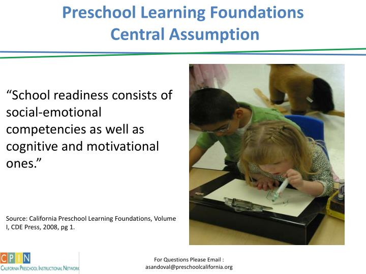 Preschool Learning Foundations