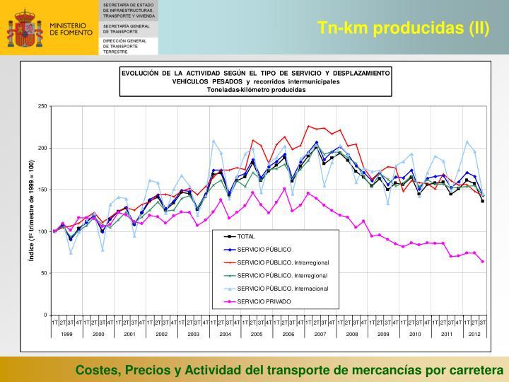 Tn-km producidas (II)