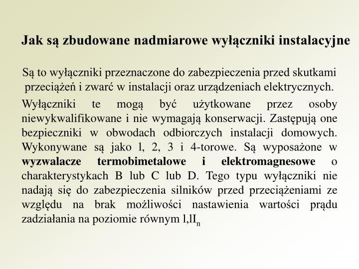 Jak są zbudowane nadmiarowe wyłączniki instalacyjne