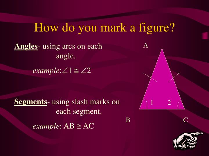 How do you mark a figure?