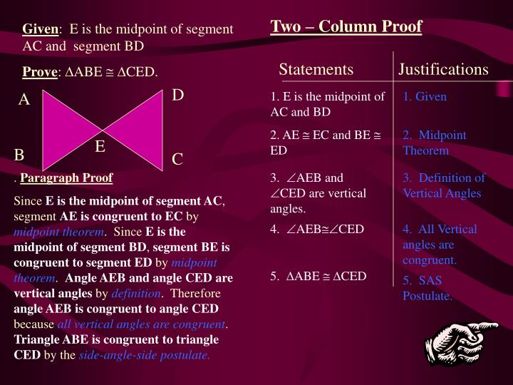 Two – Column Proof
