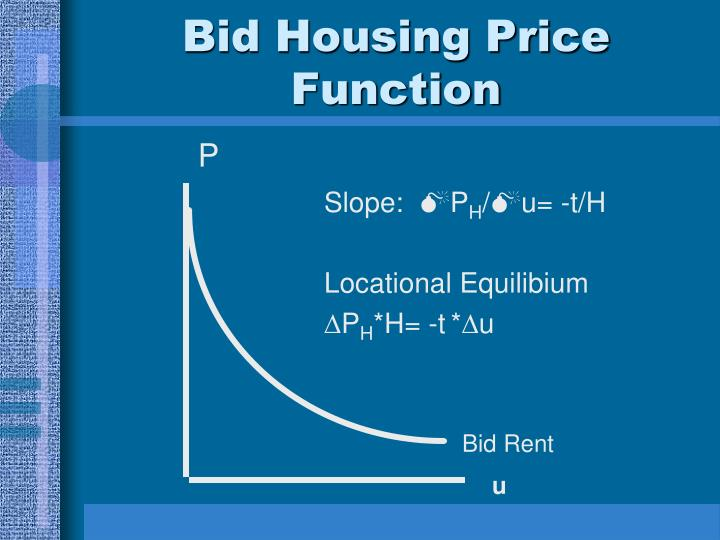Bid Housing Price Function