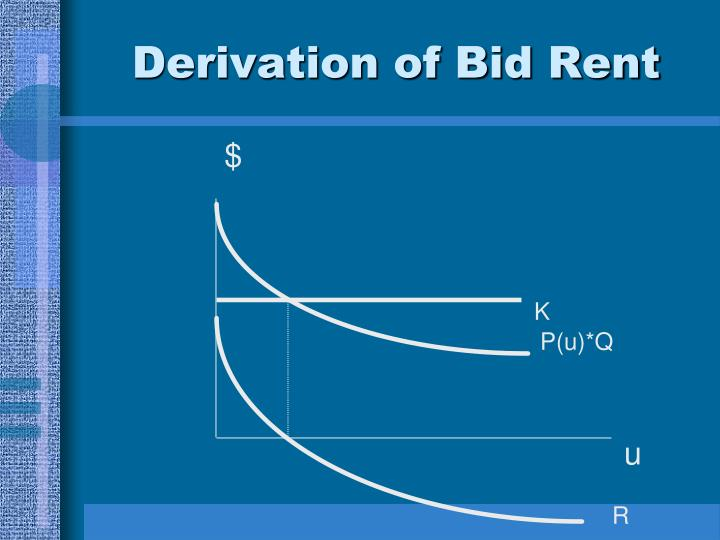 Derivation of Bid Rent